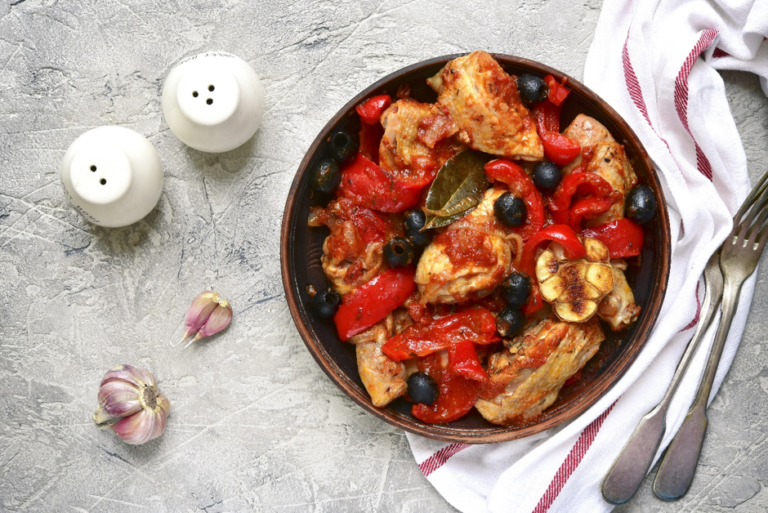 Chicken and Tomato Fricassee