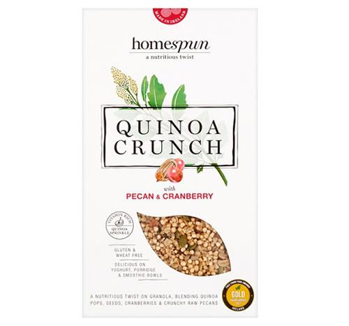 Homespun Quinoa Crunch Pecan and Cranberry